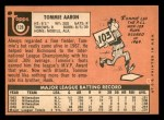 1969 Topps #128  Tommie Aaron  Back Thumbnail
