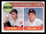 1969 Topps #499   -  Don Bryant / Steve Shea Astros Rookies Front Thumbnail