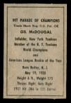 1952 Berk Ross  Gil McDougald  Back Thumbnail