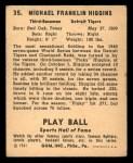 1941 Play Ball #35  Pinky Higgins   Back Thumbnail