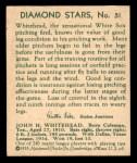 1935 Diamond Stars #51  Burgess Whitehead  Back Thumbnail