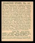 1935 Diamond Stars #42  Jimmy Dykes   Back Thumbnail