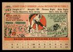 1956 Topps #157 WHT Dick Brodowski  Back Thumbnail
