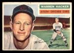 1956 Topps #282  Warren Hacker  Front Thumbnail
