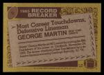 1986 Topps #5  George Martin  Back Thumbnail
