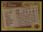 1986 Topps #95  Ken O'Brien  Back Thumbnail
