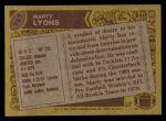 1986 Topps #107  Marty Lyons  Back Thumbnail