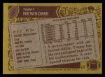 1986 Topps #127  Timmy Newsome  Back Thumbnail
