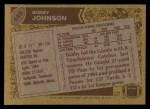 1986 Topps #142  Bobby Johnson  Back Thumbnail