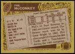 1986 Topps #143  Phil McConkey  Back Thumbnail