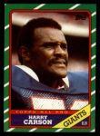 1986 Topps #152  Harry Carson  Front Thumbnail