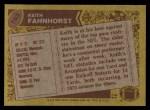1986 Topps #163  Keith Fahnhorst  Back Thumbnail