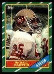 1986 Topps #165  Michael Carter  Front Thumbnail