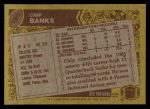1986 Topps #196  Chip Banks  Back Thumbnail