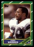 1986 Topps #202  Curt Warner  Front Thumbnail