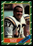 1986 Topps #240  Jeffery Dale  Front Thumbnail