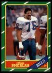 1986 Topps #390  Fred Smerlas  Front Thumbnail