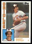 1984 Topps #59  Sammy Stewart  Front Thumbnail