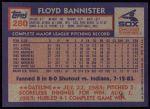 1984 Topps #280  Floyd Bannister  Back Thumbnail
