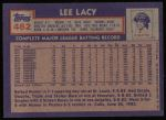 1984 Topps #462  Lee Lacy  Back Thumbnail