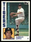 1984 Topps #95  Aurelio Lopez  Front Thumbnail