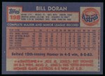 1984 Topps #198  Billy Doran  Back Thumbnail