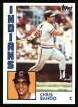 1984 Topps #431  Chris Bando  Front Thumbnail