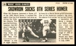 1964 Topps Giants #60  Bill Skowron  Back Thumbnail