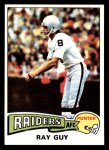 1975 Topps #435  Ray Guy  Front Thumbnail