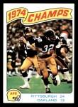 1975 Topps #526   -  Terry Bradshaw / Franco Harris AFC Championship Game Front Thumbnail