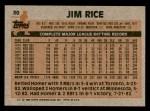 1983 Topps #30  Jim Rice  Back Thumbnail