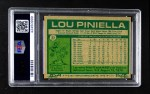 1977 Burger King #23  Lou Piniella  Back Thumbnail