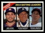 2015 Topps Heritage #216   -  Michael Brantley / Jose Altuve / Victor Martinez AL Batting Leaders Front Thumbnail