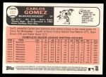 2015 Topps Heritage #482  Carlos Gomez  Back Thumbnail