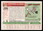 2004 Topps Heritage #239  Paul Lo Duca  Back Thumbnail