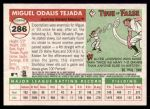 2004 Topps Heritage #286  Miguel Tejada  Back Thumbnail