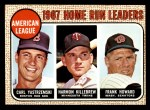 1968 Topps #6   -  Frank Howard / Harmon Killebrew / Carl Yastrzemski AL HR Leaders Front Thumbnail