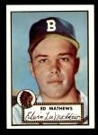 1952 Topps REPRINT #407  Eddie Mathews  Front Thumbnail