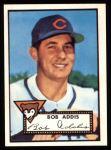1952 Topps REPRINT #259  Bob Addis  Front Thumbnail