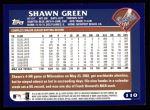 2003 Topps #110  Shawn Green  Back Thumbnail
