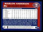 2003 Topps #155  Marlon Anderson  Back Thumbnail