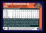 2003 Topps #169  Jerry Hairston Jr.  Back Thumbnail