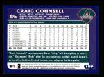 2003 Topps #189  Craig Counsell  Back Thumbnail