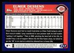 2003 Topps #257  Elmer Dessens  Back Thumbnail