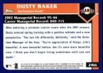 2003 Topps #286  Dusty Baker  Back Thumbnail
