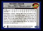 2003 Topps #319   -  Scott Tyler First Year Back Thumbnail
