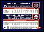 2003 Topps #329   -  Michael Cuddyer / Michael Restovich Future Stars Back Thumbnail