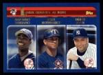 2003 Topps #338   -  Alfonso Soriano / Alex Rodriguez / Derek Jeter AL Runs Leaders Front Thumbnail