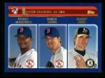 2003 Topps #341   -  Pedro Martinez / Derek Lowe / Barry Zito AL ERA Leaders Front Thumbnail
