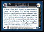 2003 Topps #354   -  J.T. Snow World Series Back Thumbnail